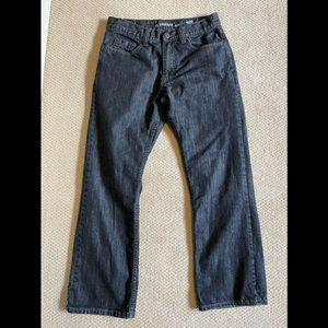 Flypaper Mens Distressed Bootcut Jeans 30x30